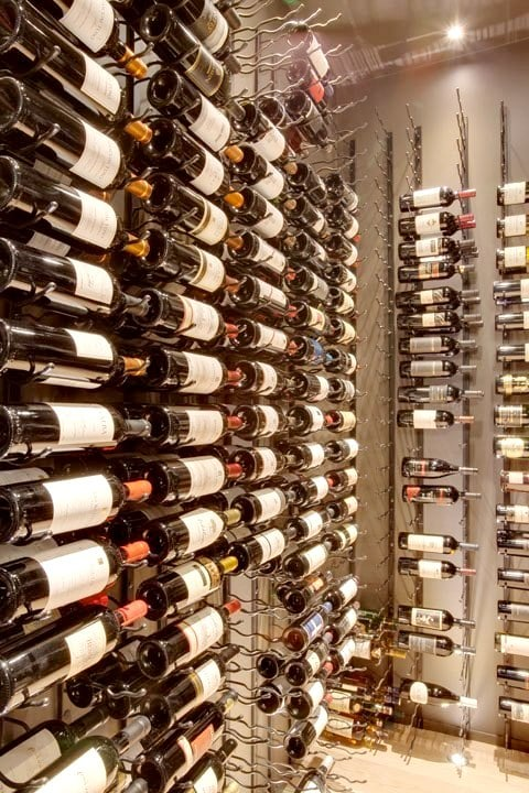 Beautiful Modern Wine Cellar with VintageView Racks Installed by Our Partner in Las Vegas