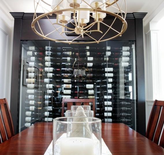 Custom Wine Cabinet with VintageView Metal Wine Racks