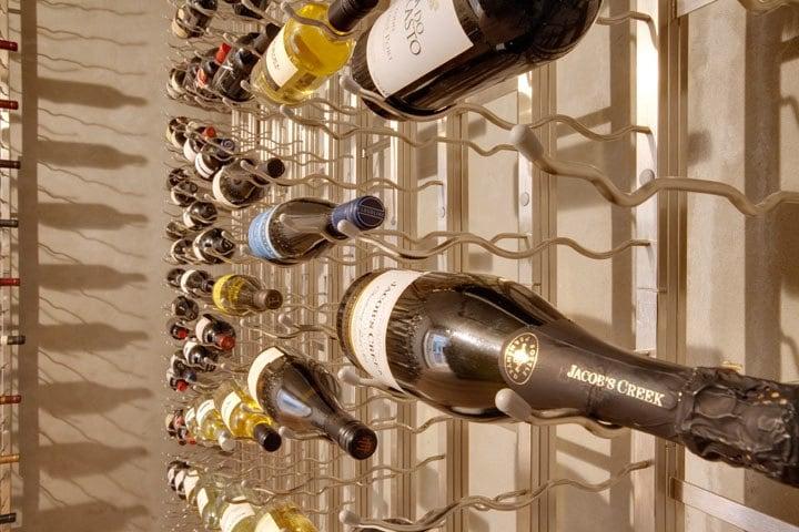 Label Forward Bottle Configuration Offered by VintageView Wine Racks