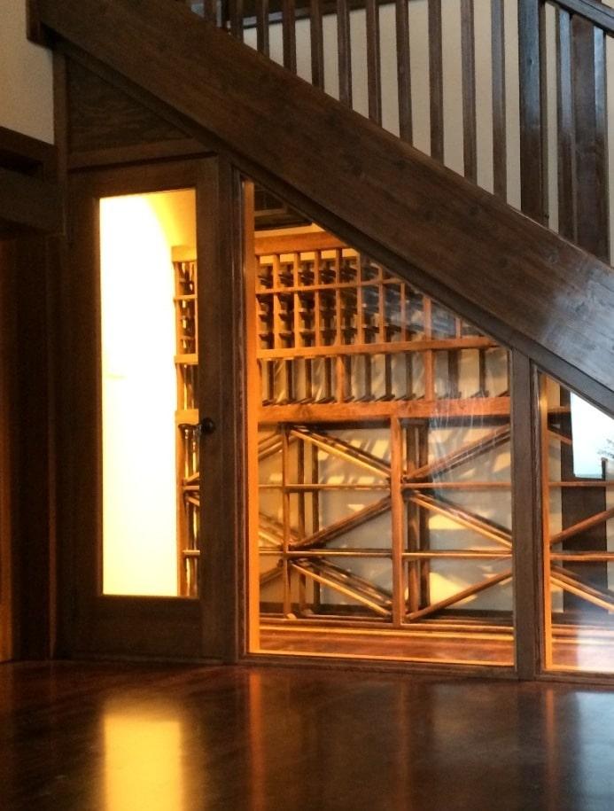Custom Door Ideal For Las Vegas Wine Cellars Under The Stairway