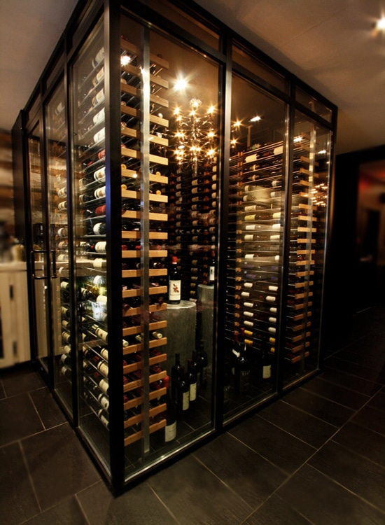 All Glass Framed Glass Custom Wine Cellars Designs Styles